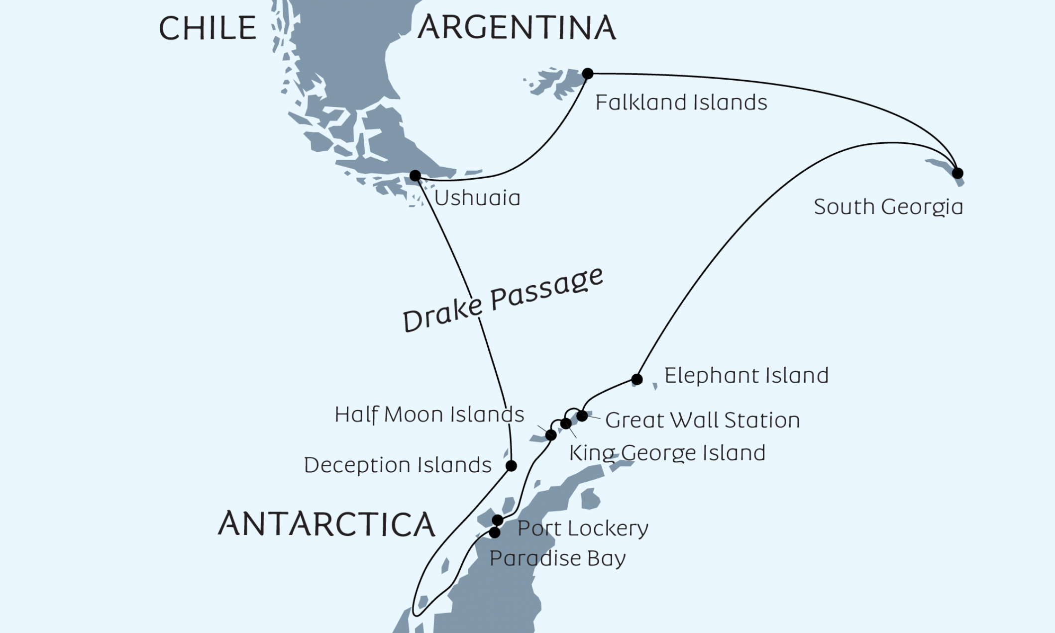 MAP FALKLANDS-SOUTH GEORGIA-SOUTH SHETLANDS-ANTARCTIC