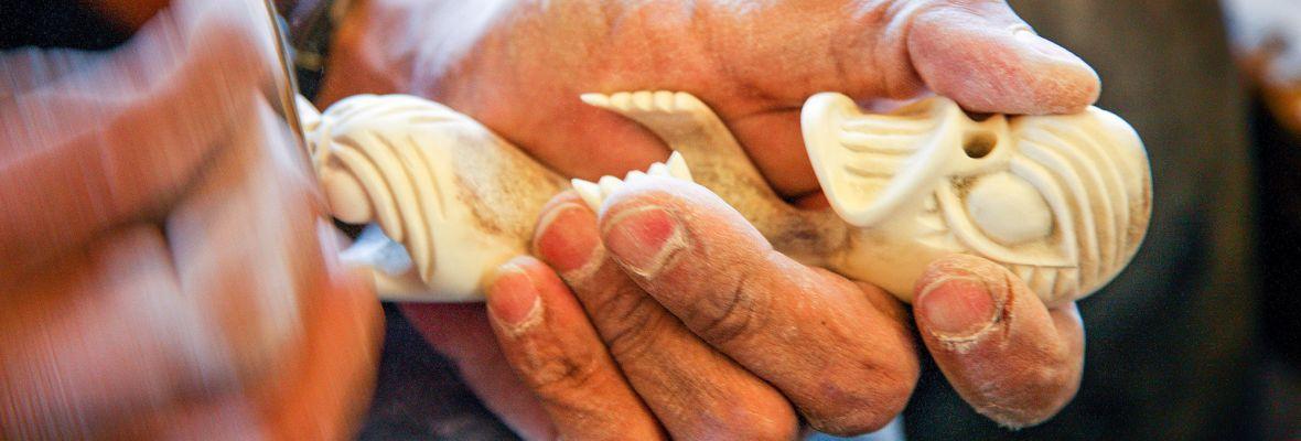 Tupilaq carving in Ittoqqortoormiit