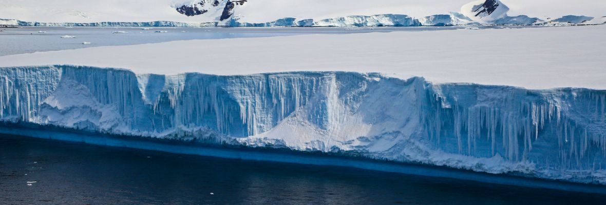 The tabular ice slabs are only a common sight in the Weddell Sea