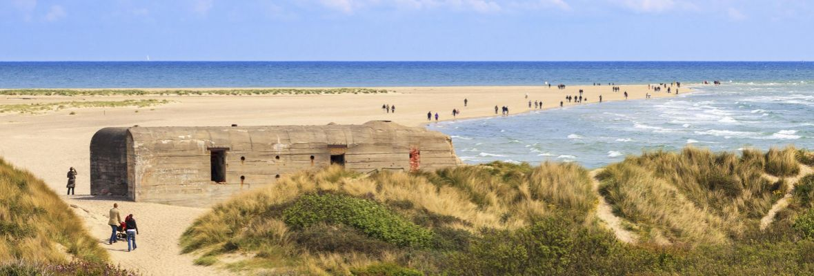 WWII bunkers adorn the western and northern coastline of Denmark