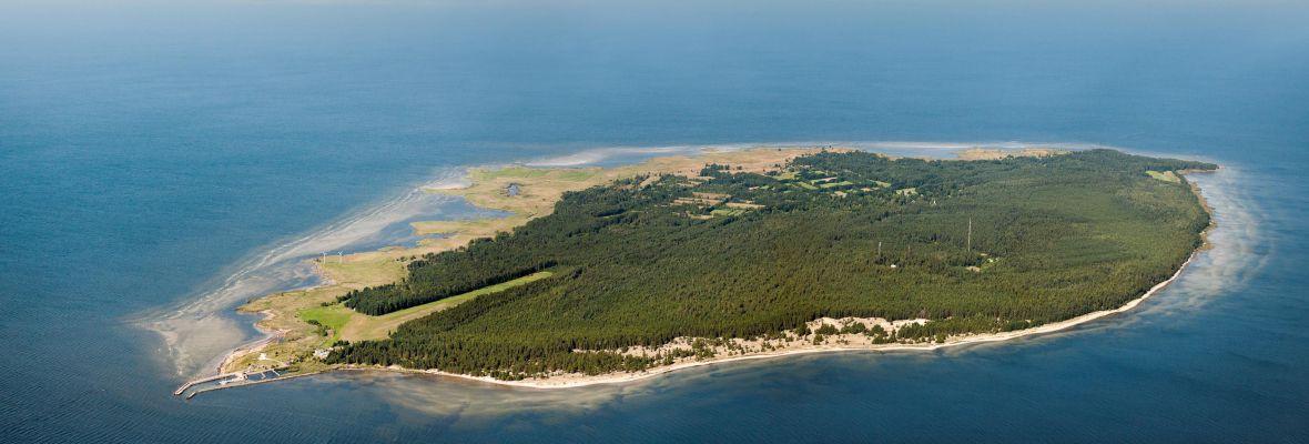 Small Estonian island of Ruhnu Saar