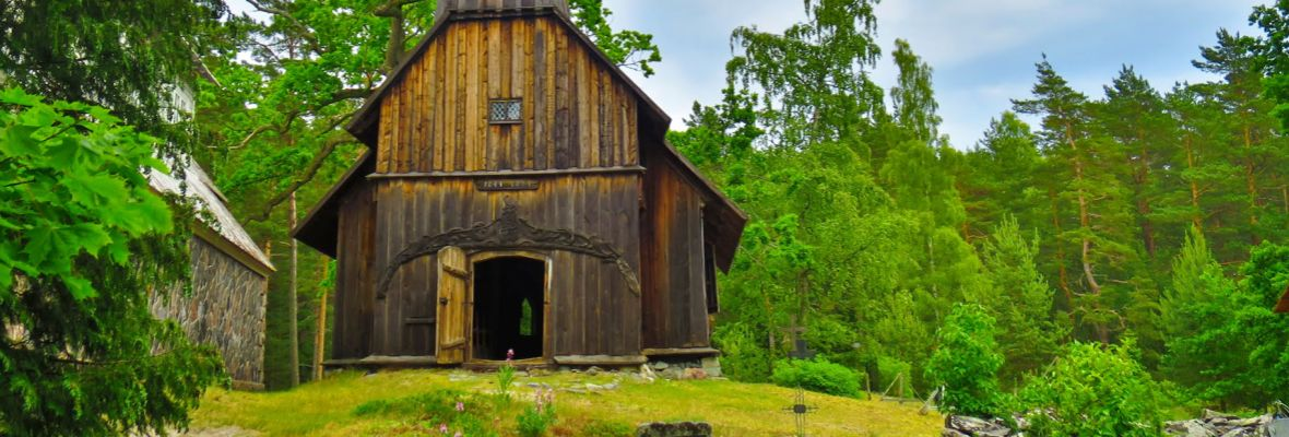 St Madelaine's Church on Ruhnu. From 1643, oldest wooden building in Estonia
