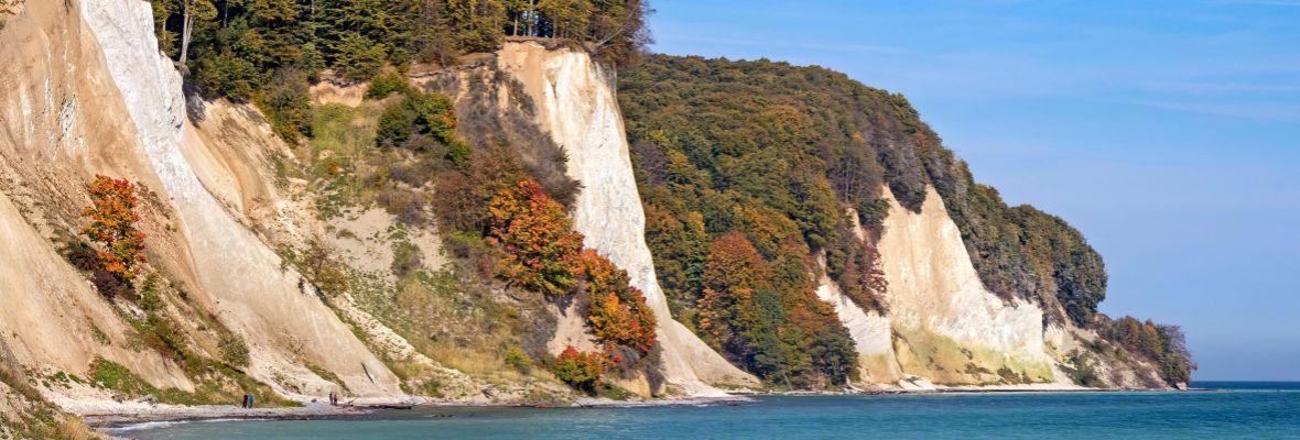 Chalk cliff on German island of Rügen