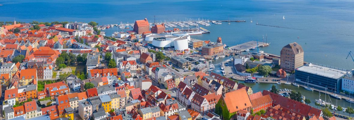 Town of Stralsund in Germany - a former Hanseactic trade port