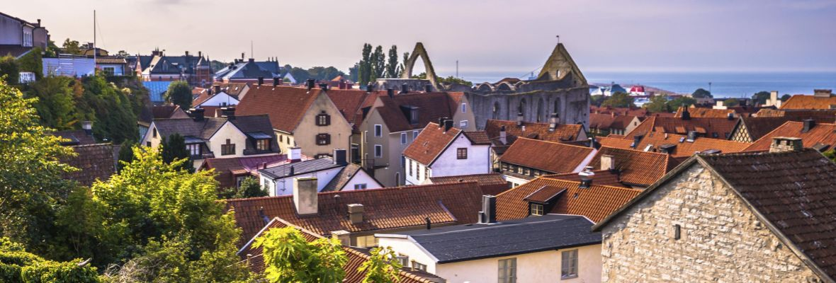 Town of Visby on Gotland, Sweden