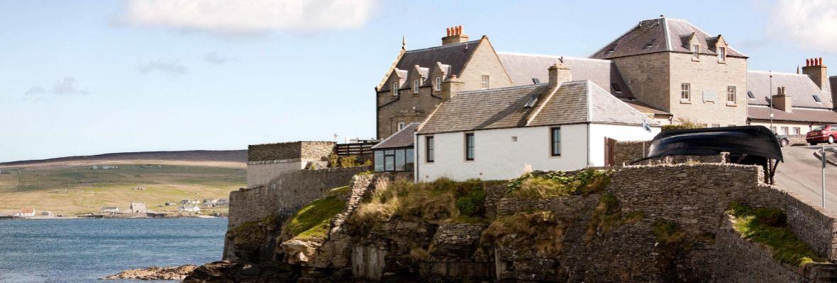 The coast of the Shetlands