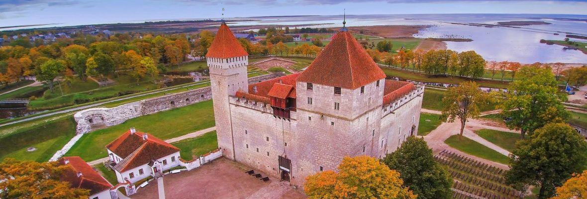 Crusaders Castle in Kuressare on Saaremaa, Estonia