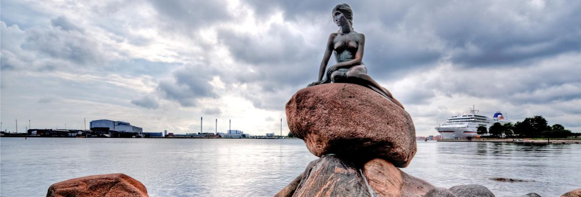 Disembarkation is in central Copenhagen, close to The Little Mermaid