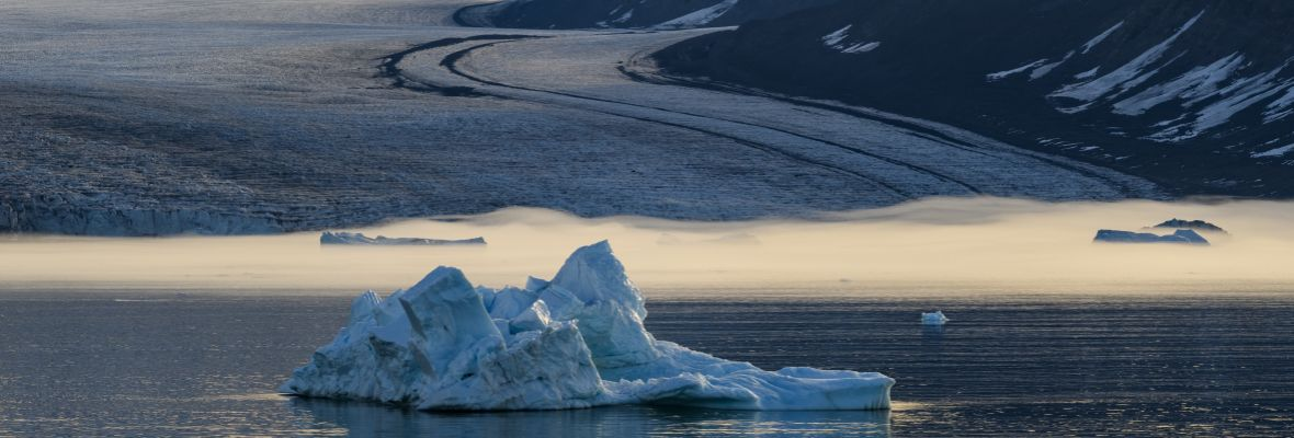 Glacier along East Greenlands coast