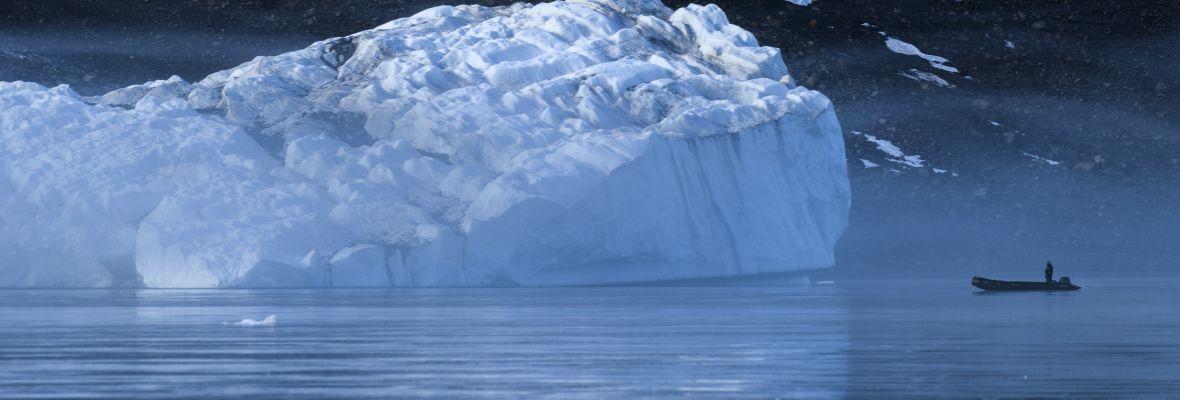 Zodiac with iceberg
