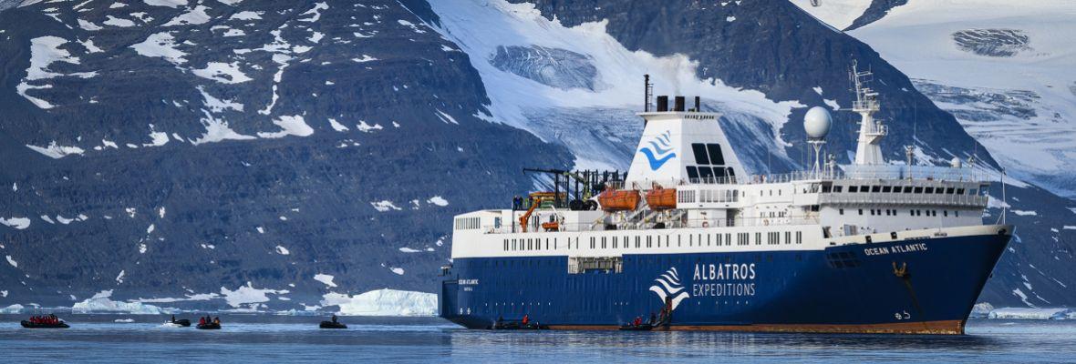 MS Ocean Atlantic in Northeast Greenland