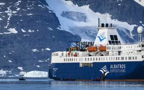 MS Ocean Atlantic in Northeast Greenland